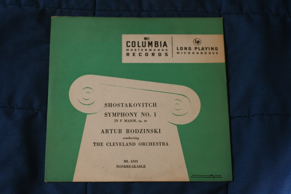 Shostakovitch Symphony No 1 in F Major ML 4101