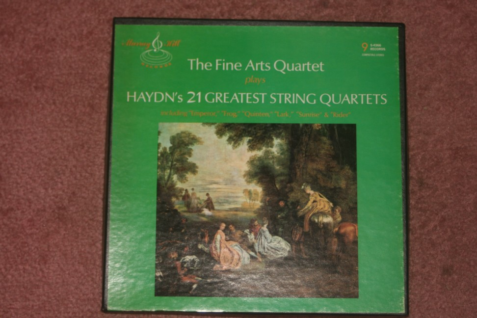 The Fine Arts Quartet- Hayden S-4366   $65  border=
