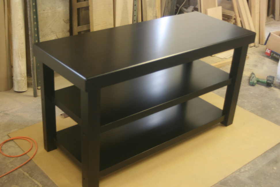 Maple Audio Rack with Black Satin Lacquer Finish