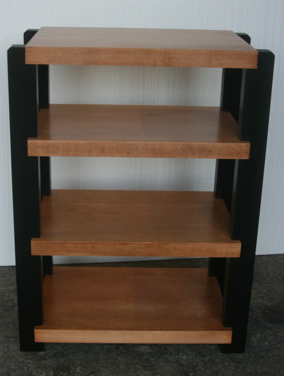 ... Maple Rack With Black Post And Teak Stain ...