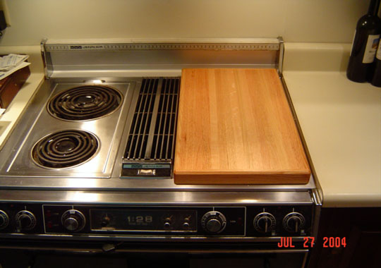 jenn air stove top. jenn air oak stove top