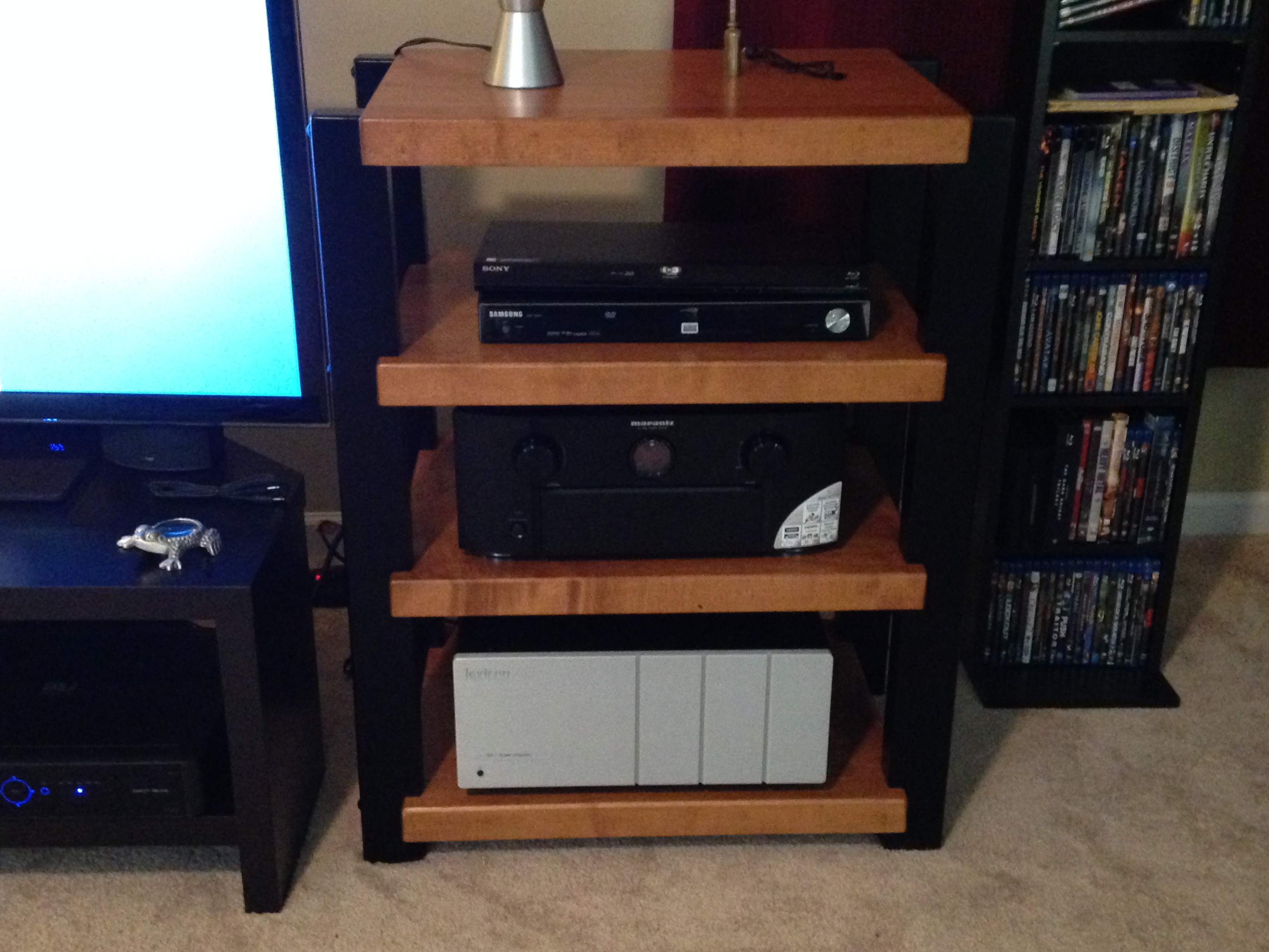 coats cherry and woodworking stl stereo rack finisheded maple custom rubb hand