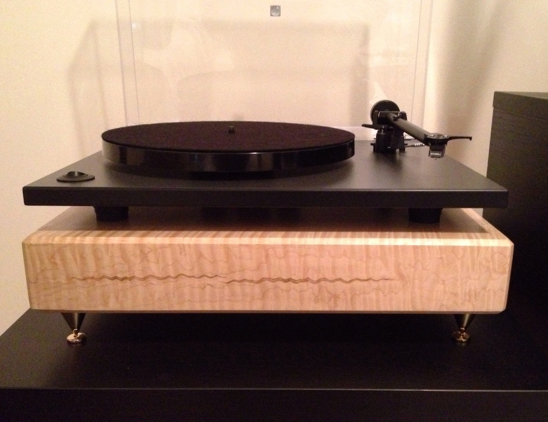 Tiger Maple Stereo Turntable Amplifier Platform