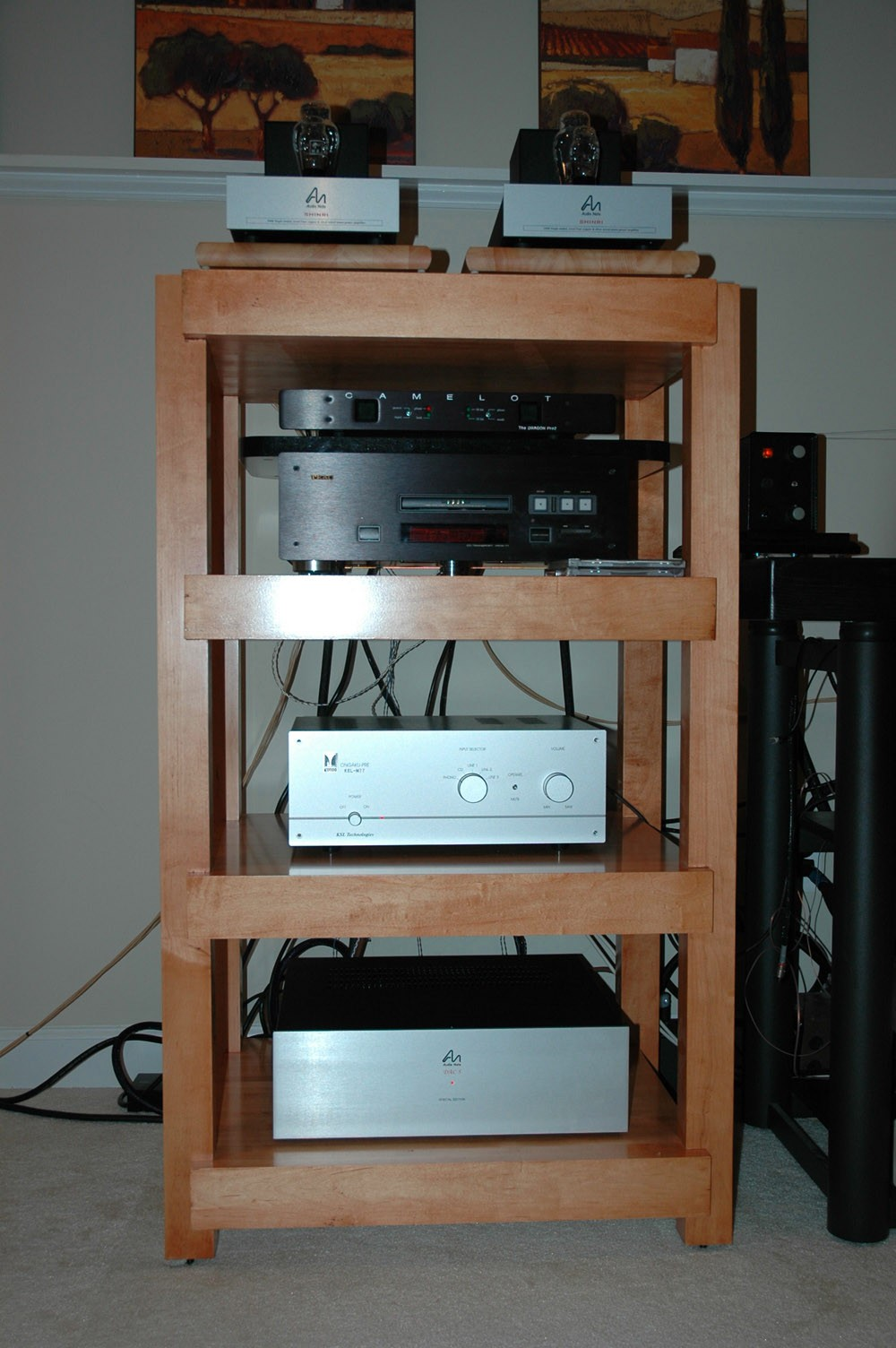 Custom High End Audio Stereo Racks Amp Stands Speaker