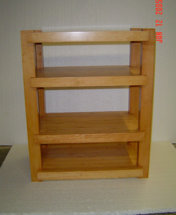 CHerry Rack With Natural Lacquer Finish Maple Rack With Light Cherry Stain  ...